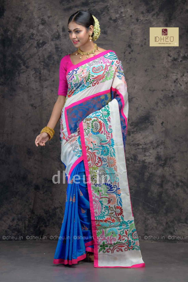 Sohin;s Choice Nakshi Kantha Fusion -A Dheu Invention - Boutique Dheu