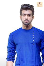 Blue Cotton  Kurta for Men -BDK4008