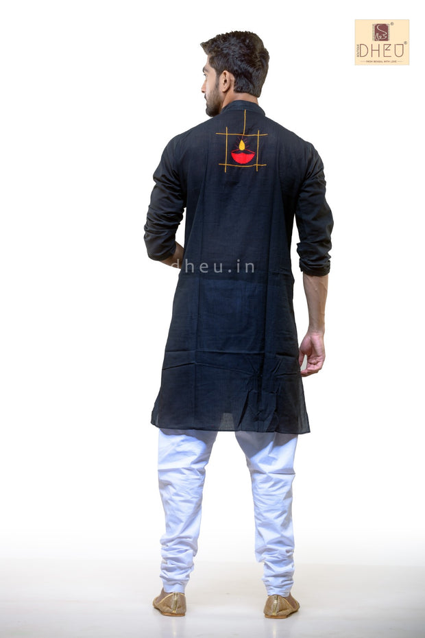Diya Applique Cotton  Kurta