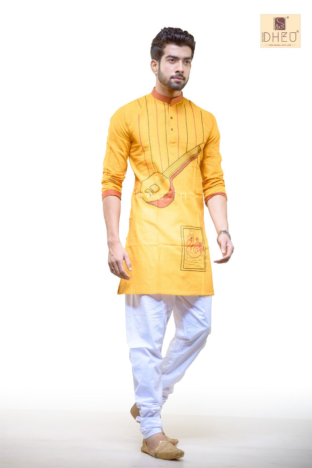Sitar Applique-Handloom Cotton Applique kurta
