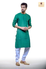 Green Cotton  Kurta for Men - BDK4005