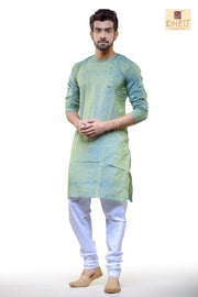 Mosh Green Cotton  Kurta for Men BDK4003