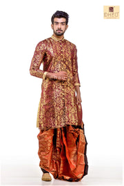 Designer  Wedding Dhoti Kurta Full Set - Boutique Dheu