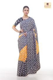 Cotton Fusion-Dheu Exclusive Saree - Boutique Dheu