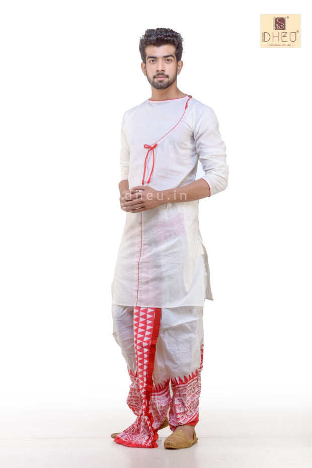 Dheu Designer Dhoti Kurta set-Inspired by Jamini Roy - Boutique Dheu