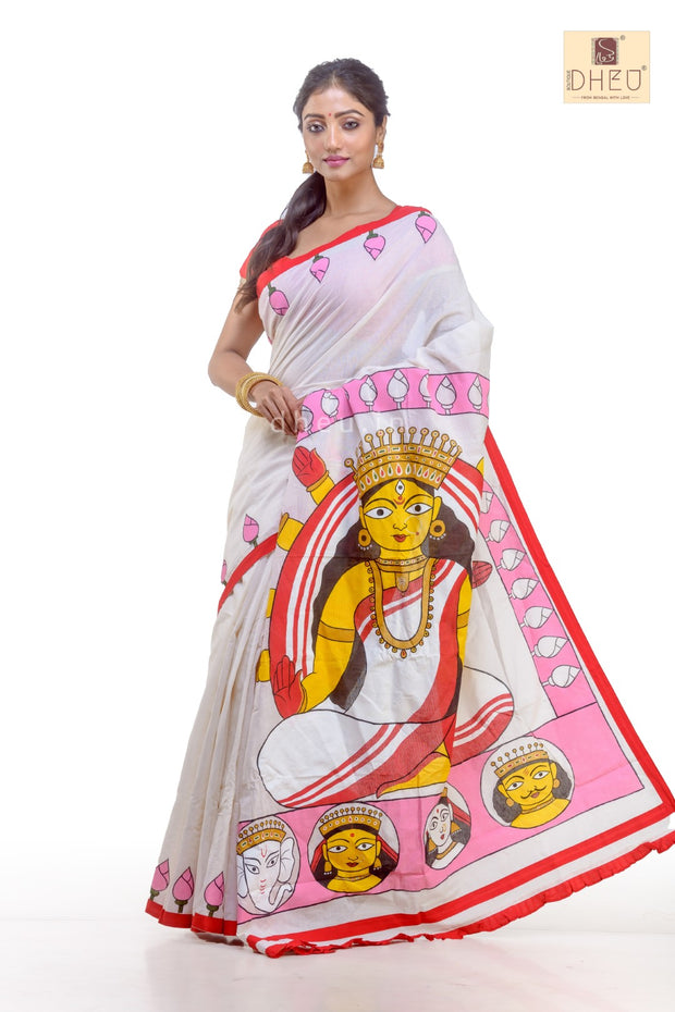 Dheu Designer Durga Couple set-Inspired by Jamini Roy-DDC1010