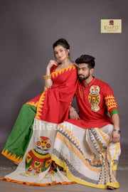 Dheu Exclusive Fusion Couple Set(with Dhoti)