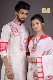 Dheu Exclusive Fusion Couple Set(with Dhoti) - Boutique Dheu