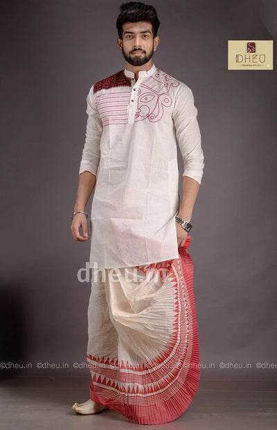 Durga -Designer Dhoti-Kurta for Men - Boutique Dheu