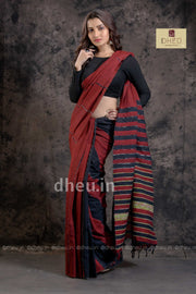 Handloom Pure Cotton Saree-Kurta Couple Set
