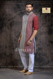 Pure Cotton Stripe  kurta - Boutique Dheu
