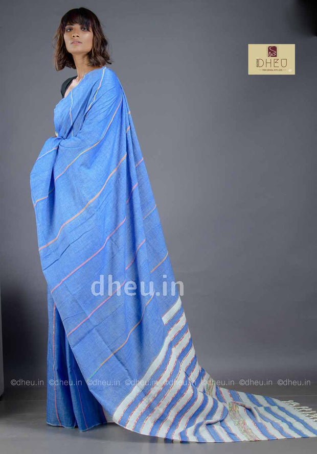Handloom Pure Cotton Saree-Kurta Couple Set - Boutique Dheu