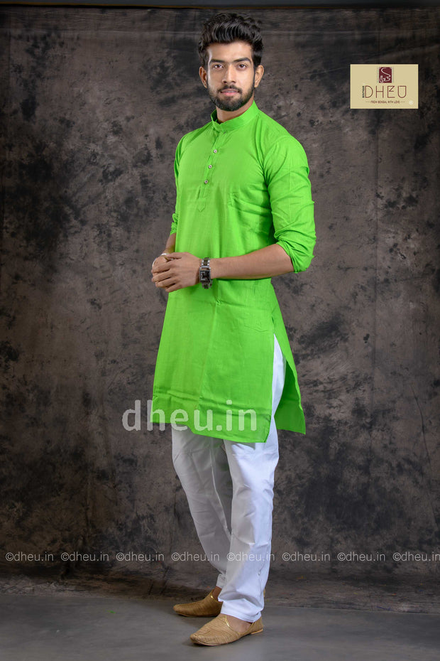 Fluroscent Green  Kurta for Men - Boutique Dheu