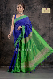 Handloom Saree-Kurta Couple Set - Boutique Dheu