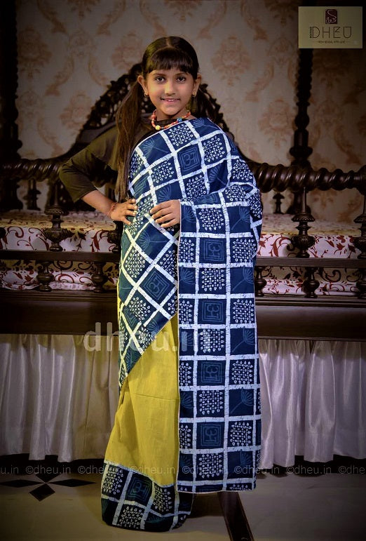 Baby Girls' Indigo Saree - Boutique Dheu