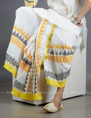 Bengali Cotton Dhoti- Ready to wear