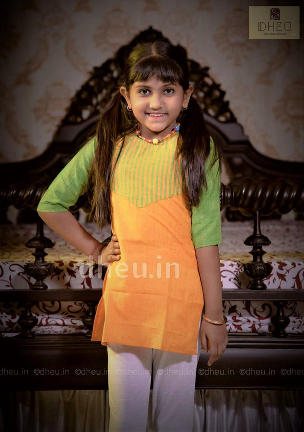 Pattern of Girl's kurti