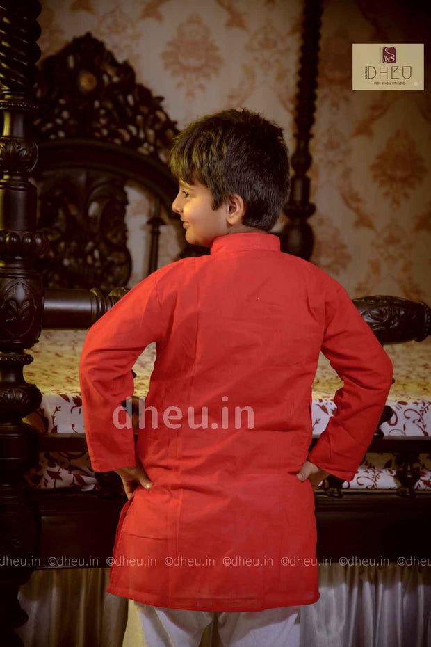 Cotton Handpainted Kurta for Boys - Boutique Dheu