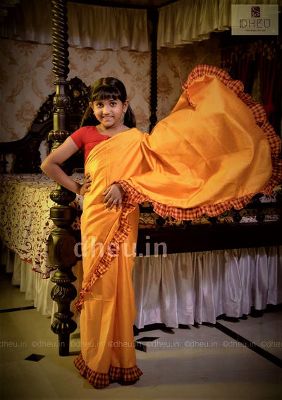Baby Girls' Ruffle Saree - Boutique Dheu