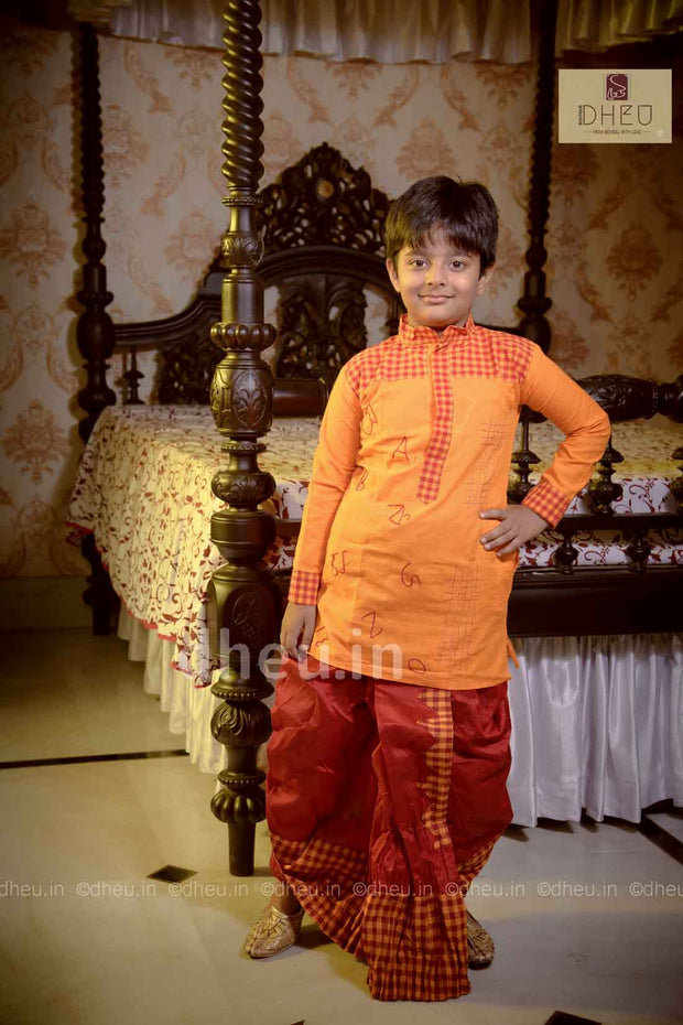 Cotton Dhoti-Kurta Set for Boys - Boutique Dheu