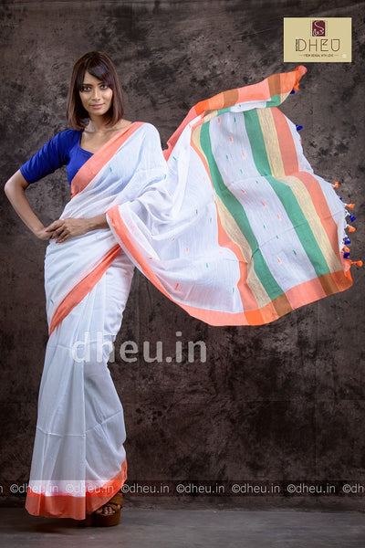 Independence Special Khadi Saree - Boutique Dheu