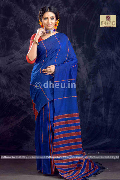 Khes – Handloom pure Cotton Saree - Boutique Dheu