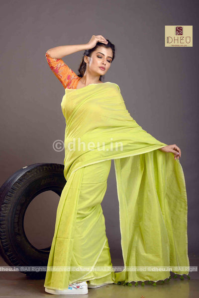 Albeli – The Urban Drapes- Lime Green - Boutique Dheu