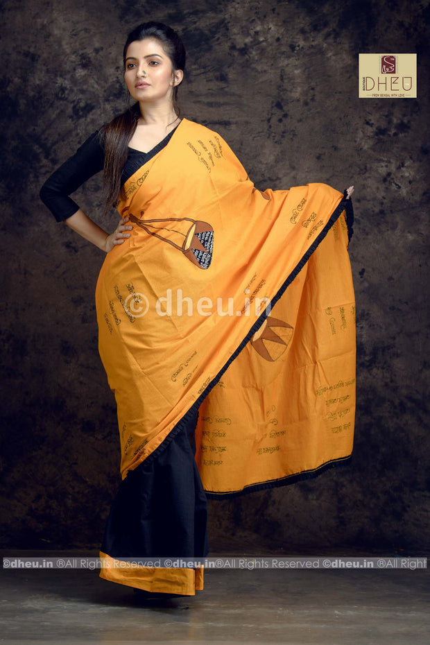 Amar Vitoro Bahire-Dheu Exclusive Applique Saree