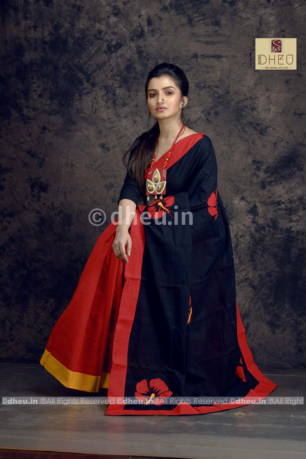 Joba-Dheu Exclusive Applique Saree