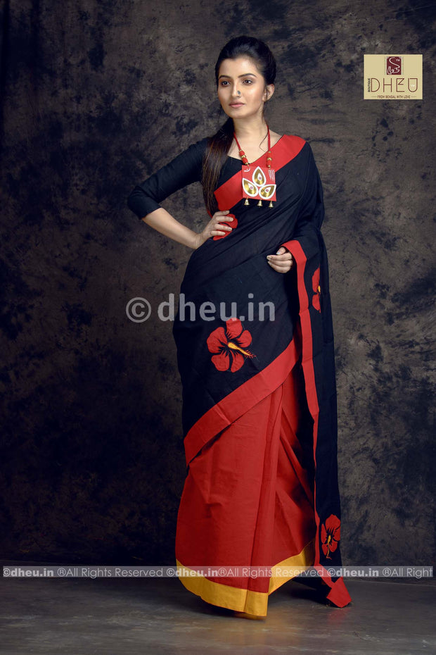 Joba-Dheu Exclusive Applique Saree - Boutique Dheu
