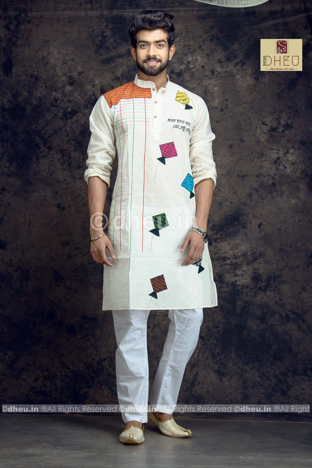 Handcrafted Kite Kurta for Men - Boutique Dheu