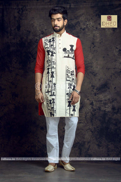 Amader Choto Gram Handcrafted Cotton Kurta - Boutique Dheu