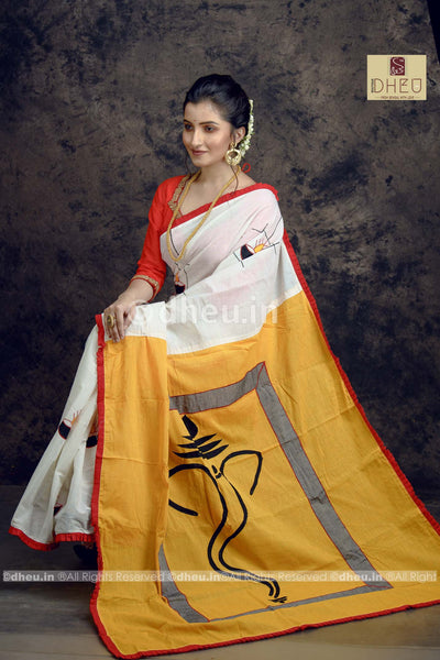Diya-Dheu Exclusive Applique Saree - Boutique Dheu