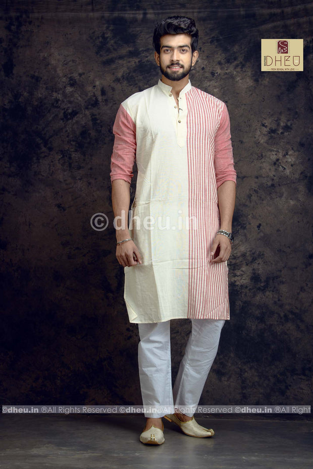 Stripe Pure Cotton kurta