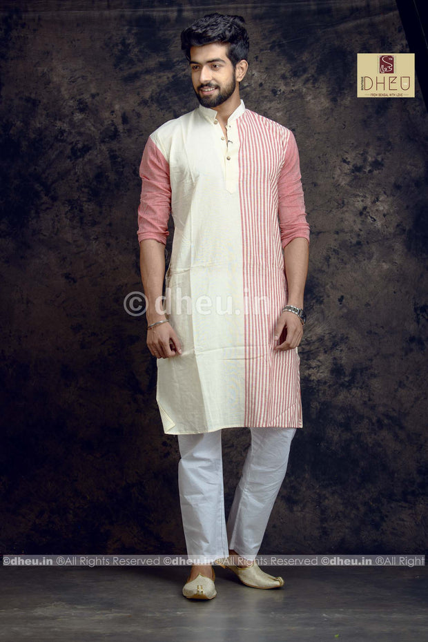 Stripe Pure Cotton kurta - Boutique Dheu