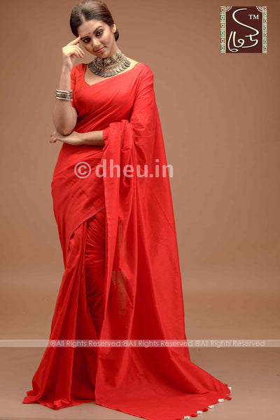 """Dheu Boutique ""Albeli – The Urban Drapes  Colur :   Red   saree"