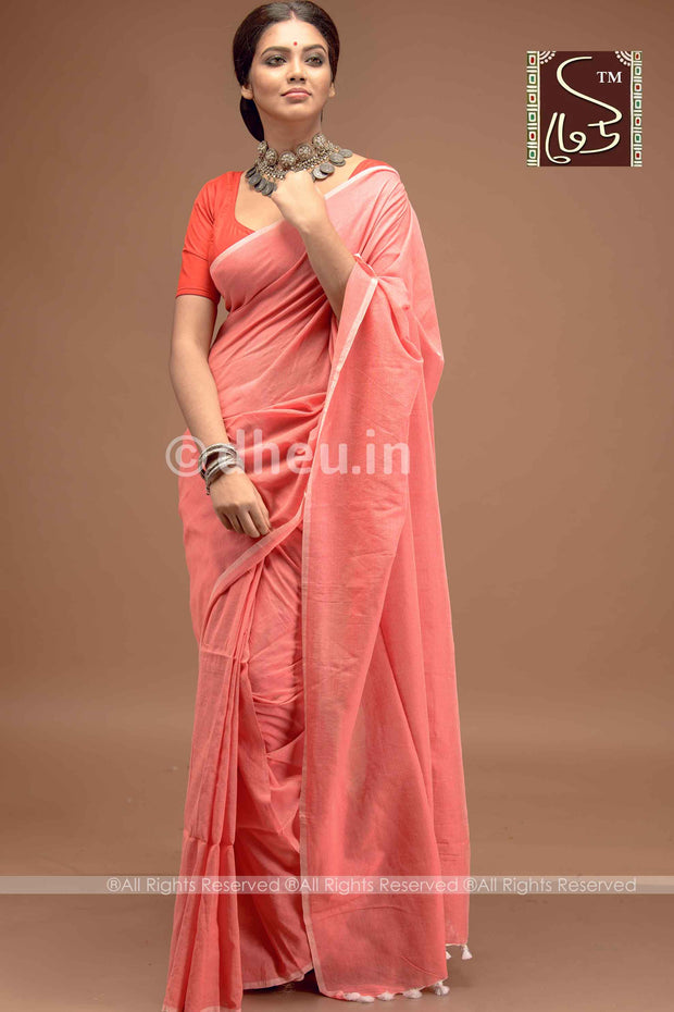 """Dheu Boutique ""Albeli – The Urban Drapes  Colur :   Rose Pink   saree"
