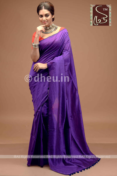 """Dheu Boutique ""Albeli – The Urban Drapes  Colur :   Ink Purple  saree"