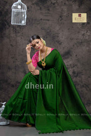 """Dheu Boutique ""Albeli – The Urban Drapes   Bottle green Colour  saree"