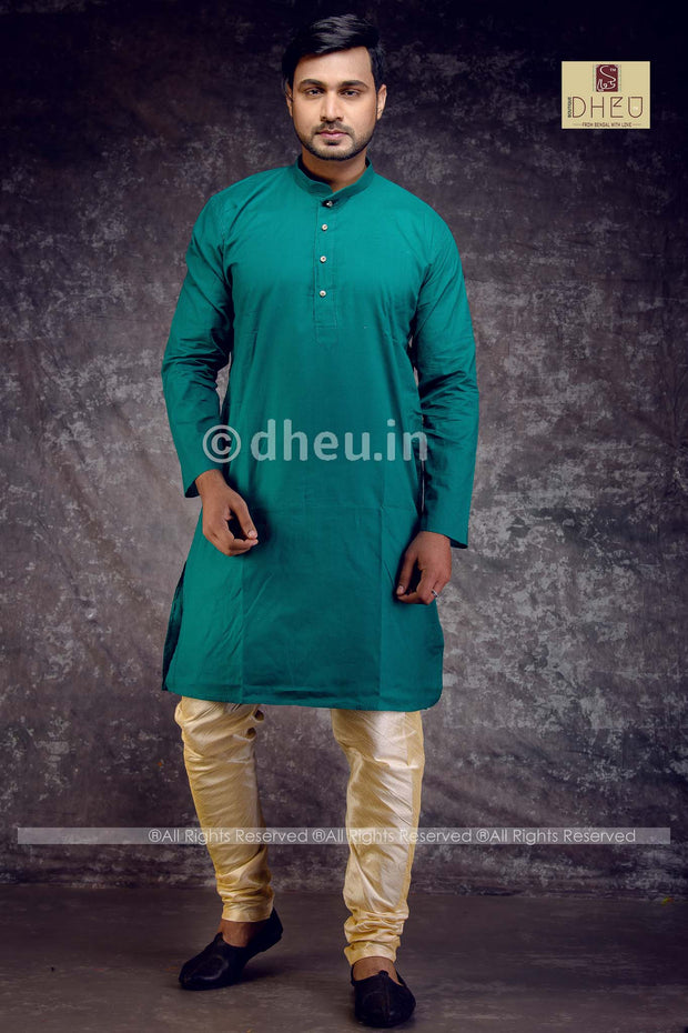 Dheu Boutique gents Kurta Men Green colour kurta for men