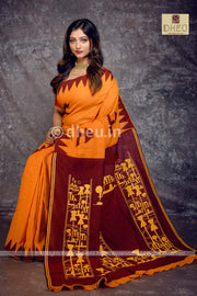 Amader Choto Gram-Couple Set(With Dhoti) - Boutique Dheu