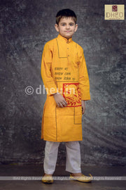Cotton Applique Kurta for Boys