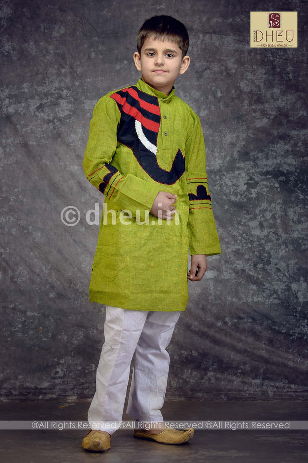 Cotton Applique Kurta for Boys - Boutique Dheu