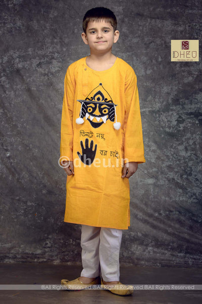 Bhuter Raja-Cotton Applique Kurta for Boys - Boutique Dheu