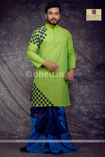 Designer Handloom Cotton Applique kurta - Boutique Dheu