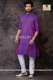 Magenta Pure Cotton kurta -Solid Colour