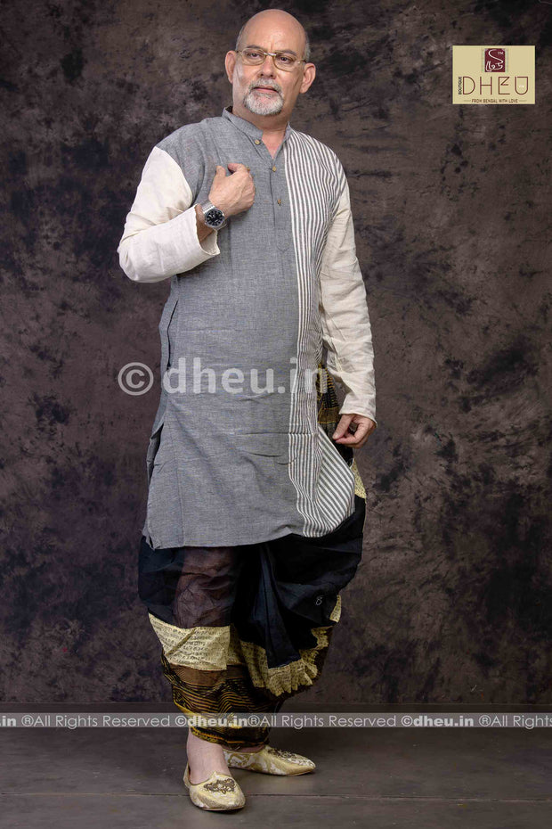 Father's Choice - Pure Cotton Stripe  kurta - Boutique Dheu
