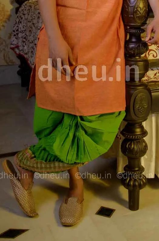 Bengali Cotton Dhoti- Ready to wear - Boutique Dheu