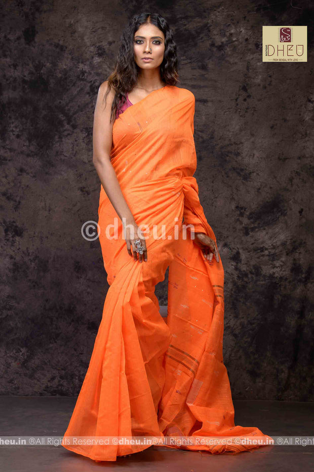 Handloom Silk Sequence Saree - Boutique Dheu