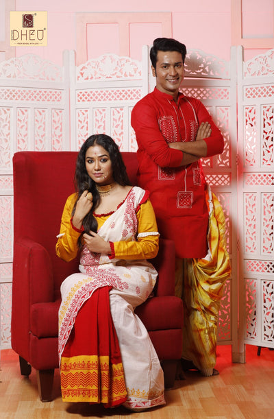 Anirban & Sohini's Choice Dheu Designer Couple set